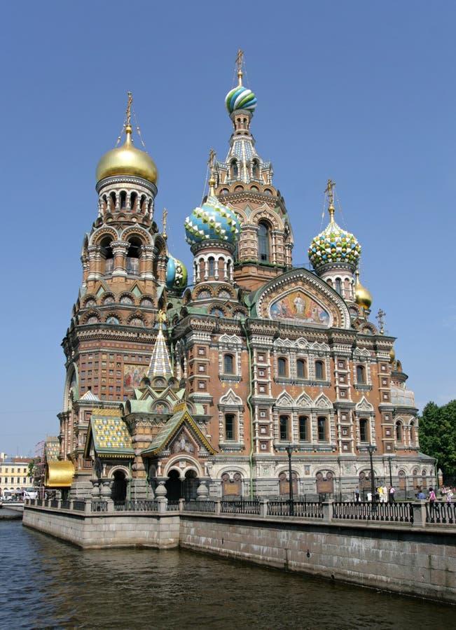 Kerk van de Verlosser op Bloed. St. Petersburg stock foto