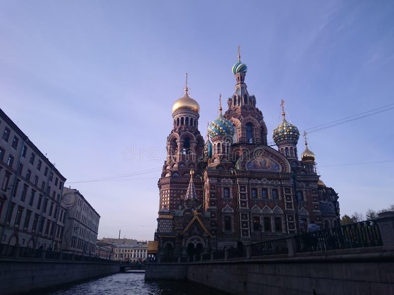 Kerk van de Verlosser op Bloed - St. Petersburg, Rusland stock afbeelding