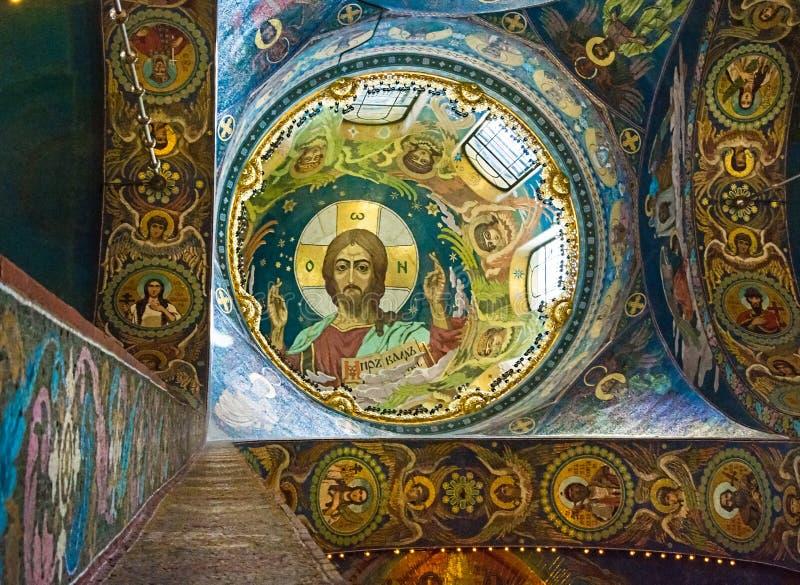 Kerk van de Verlosser op Gemorst Bloed Binnenlands E stock afbeelding