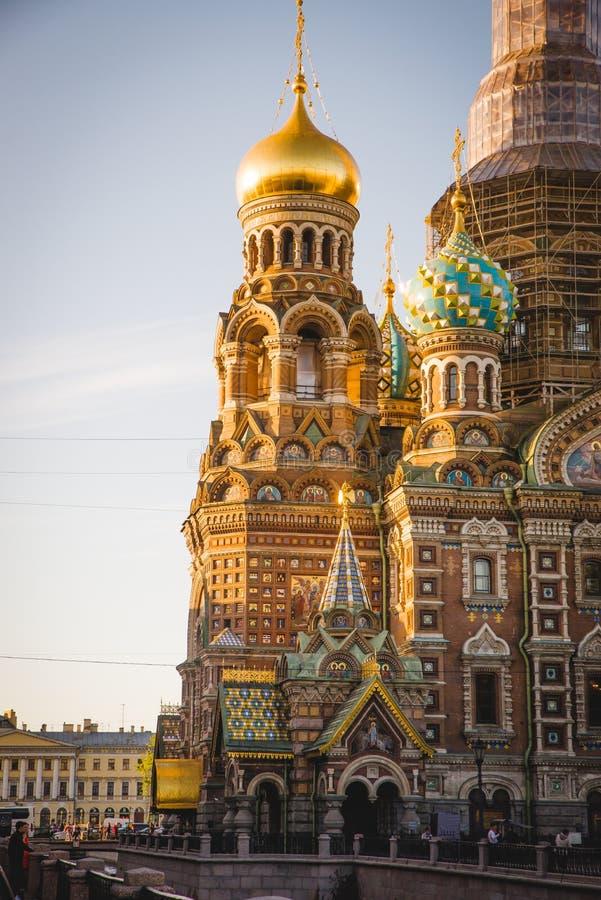 Kerk van de Verlosser op Gemorst Bloed in St Petersburg royalty-vrije stock fotografie