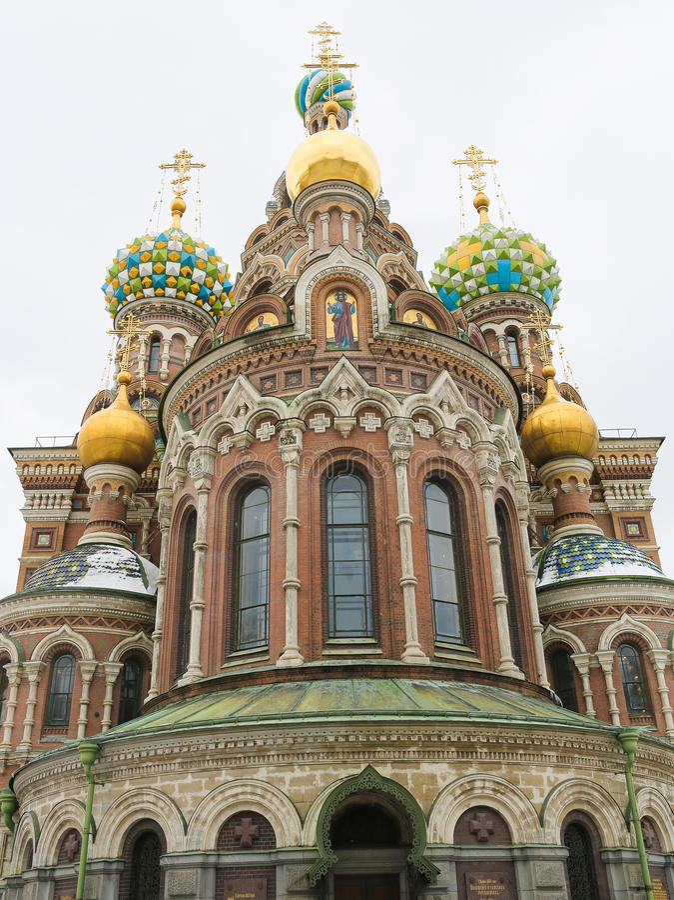 Kerk van de Verlosser op Gemorst Bloed, St Petersburg, Rusland royalty-vrije stock afbeelding