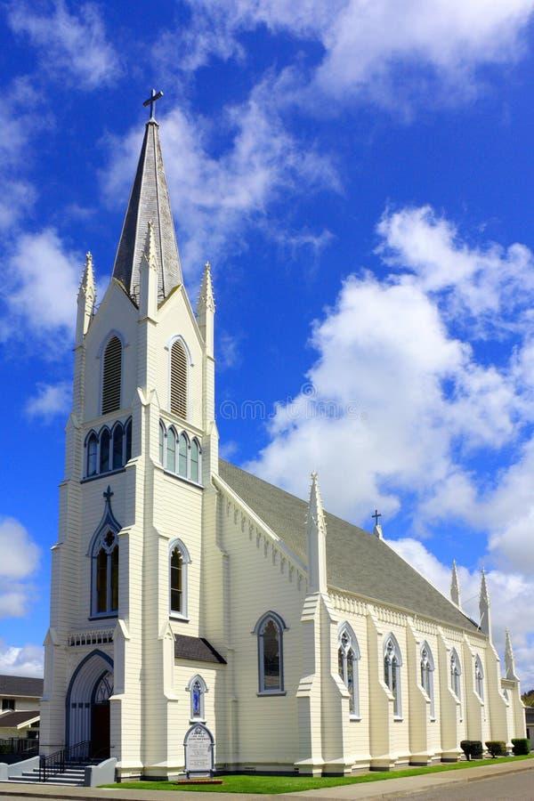 Kerk van de Veronderstelling, Ferndale, Californië stock afbeelding