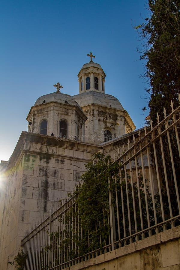 Kerk van de Veroordeling en de Heffing van het Kruis, Jeruzalem stock fotografie
