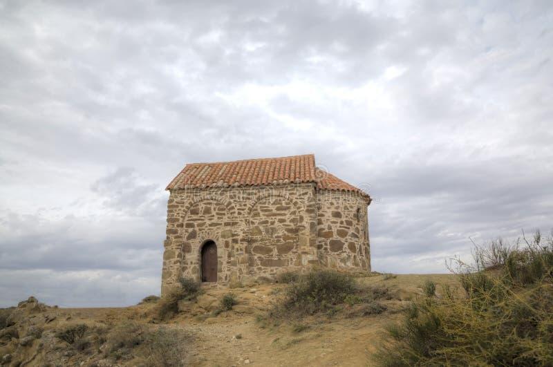 Kerk van de Verrijzenis Klooster Udabno royalty-vrije stock fotografie