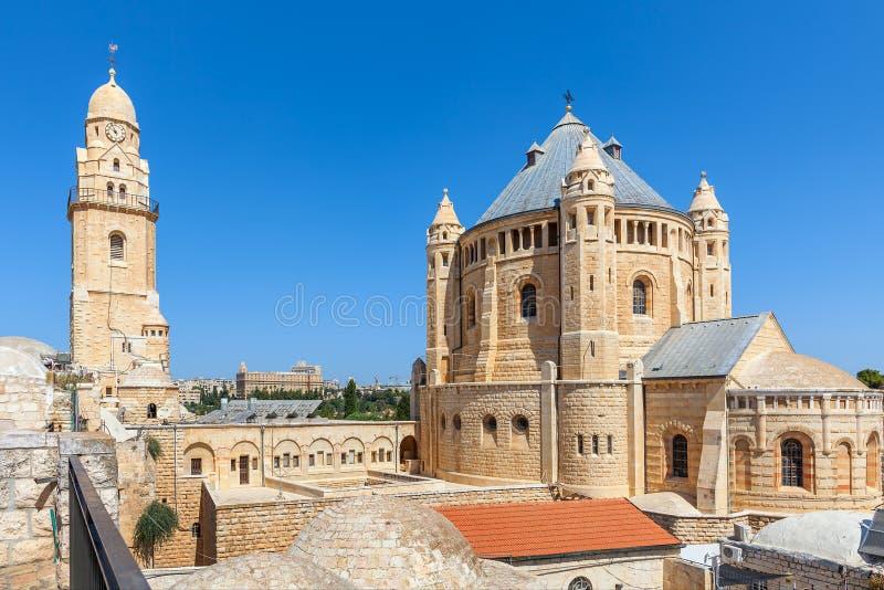 Kerk van Dormition in Jeruzalem royalty-vrije stock afbeeldingen