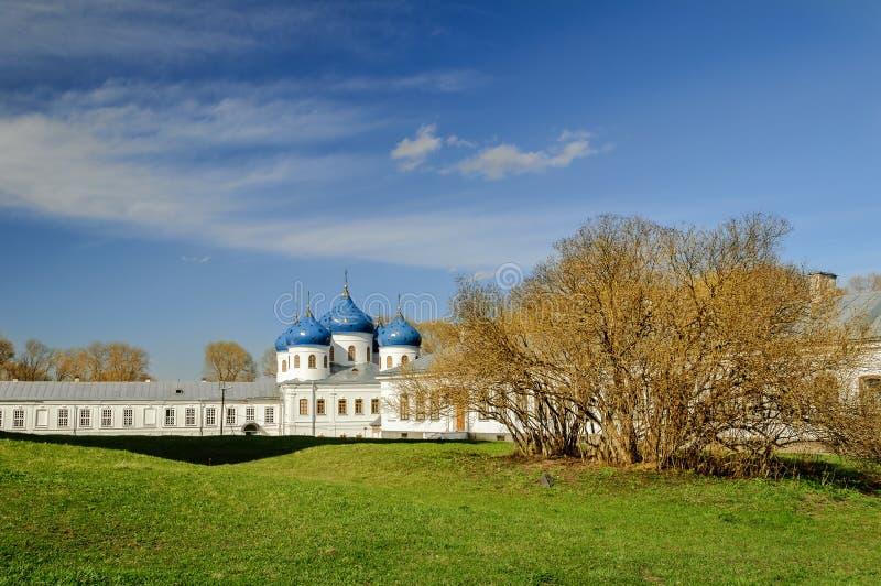 Kerk van Exhaltation van het Kruis, Yuriev-Klooster stock foto