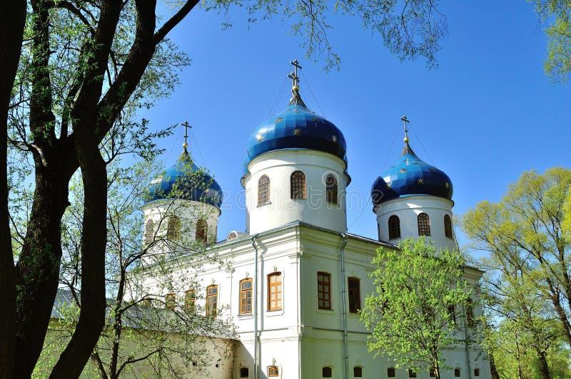 Kerk van Exhaltation van het Kruis, Yuriev-Klooster royalty-vrije stock fotografie