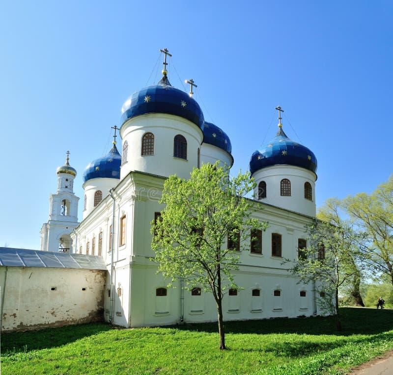 Kerk van Exhaltation van het Kruis, Yuriev-Klooster royalty-vrije stock afbeelding