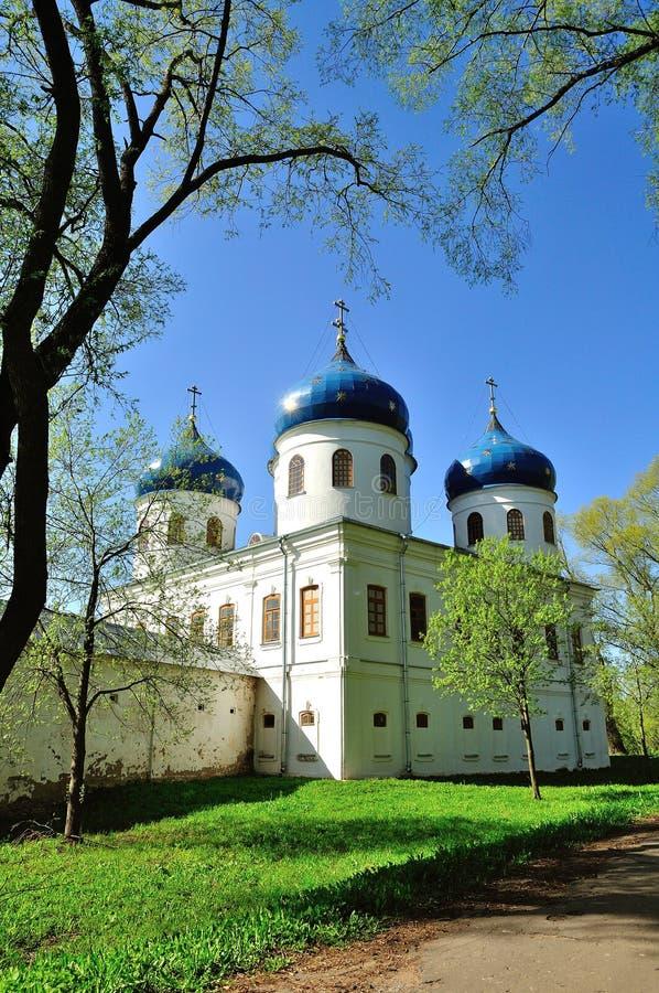 Kerk van Exhaltation van het Kruis, Yuriev-Klooster royalty-vrije stock afbeeldingen