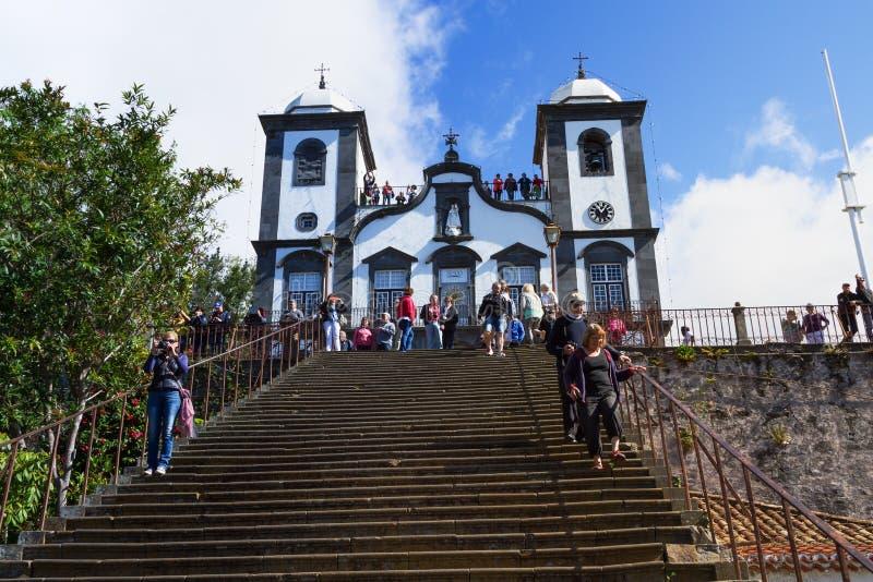 Kerk van Funchal Onze Dame van de Berg - Igreja Nossa Senhora do Monte, Funchal, Madera, Portugal stock afbeelding