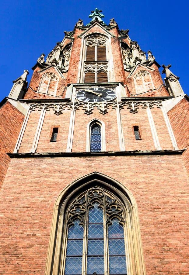 Kerk van Gertrude in Riga royalty-vrije stock afbeelding