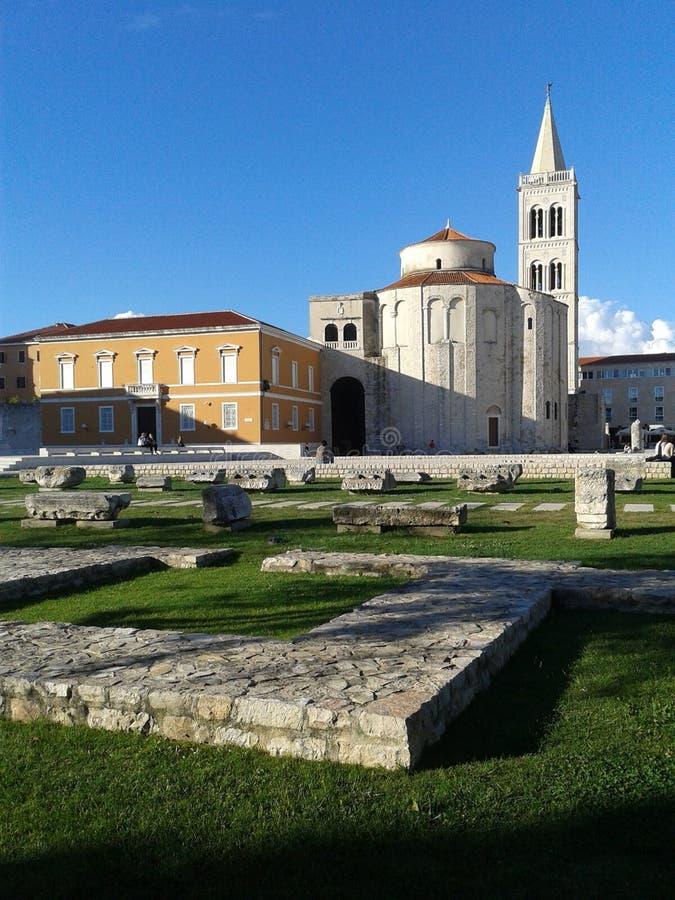 Kerk van Heilige Donat, stad van Zadar, Republiek Kroatië stock afbeelding