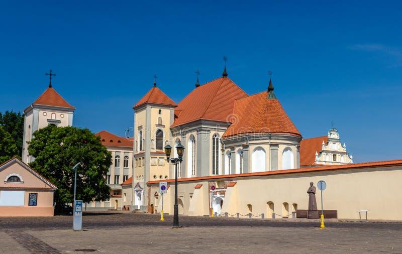 Kerk van Heilige Drievuldigheid in Kaunas royalty-vrije stock afbeeldingen