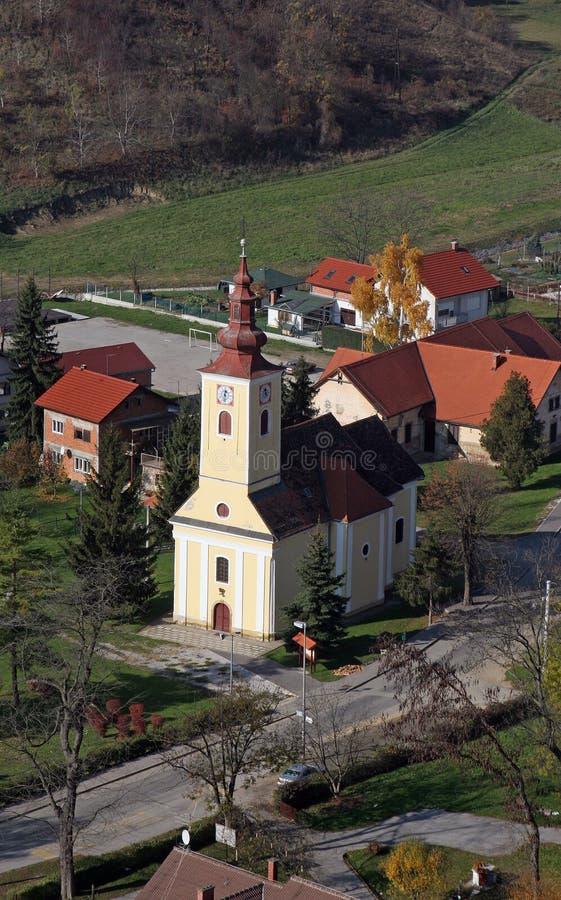 Kerk van Heilige Francis Xavier in Vugrovec, Kroatië stock foto