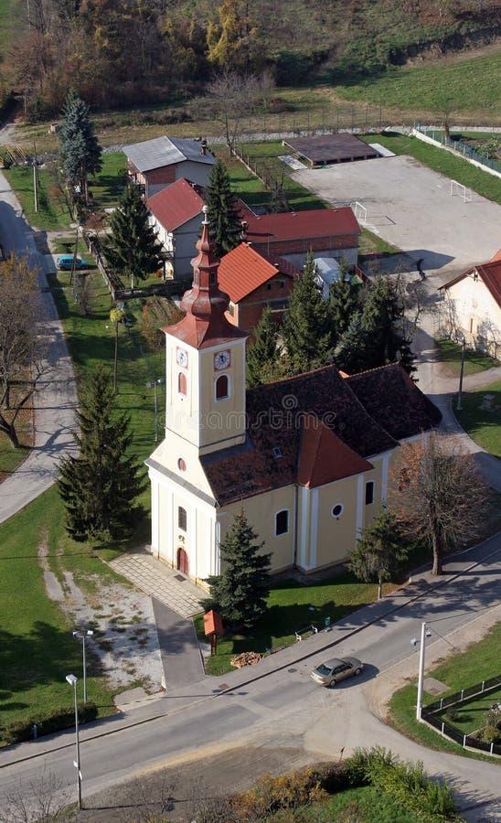 Kerk van Heilige Francis Xavier in Vugrovec, Kroatië royalty-vrije stock foto's
