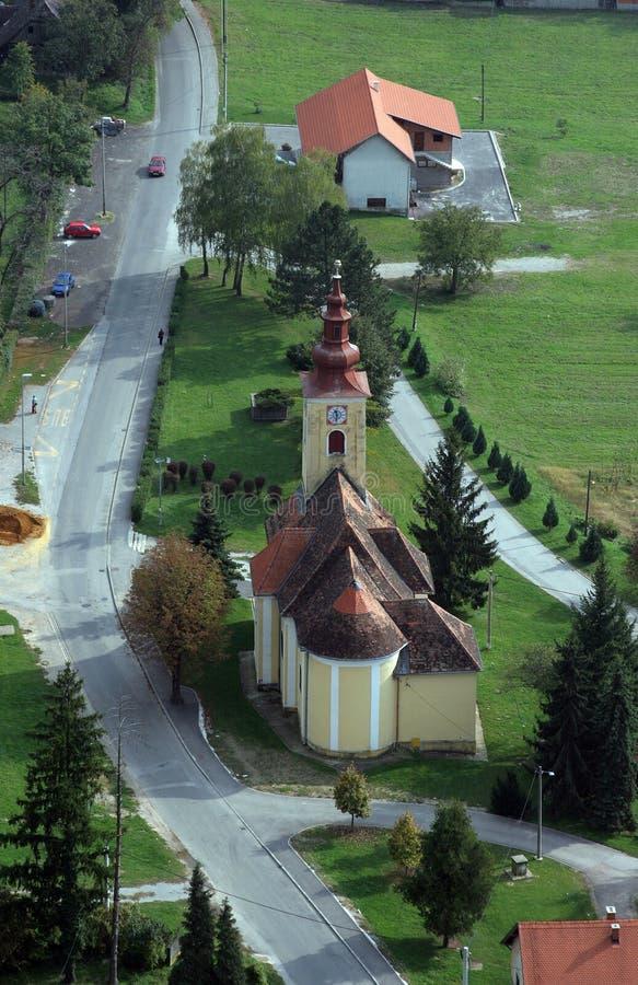 Kerk van Heilige Francis Xavier in Vugrovec, Kroatië royalty-vrije stock foto