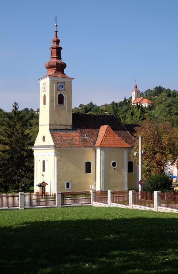 Kerk van Heilige Francis Xavier in Vugrovec, Kroatië stock foto's