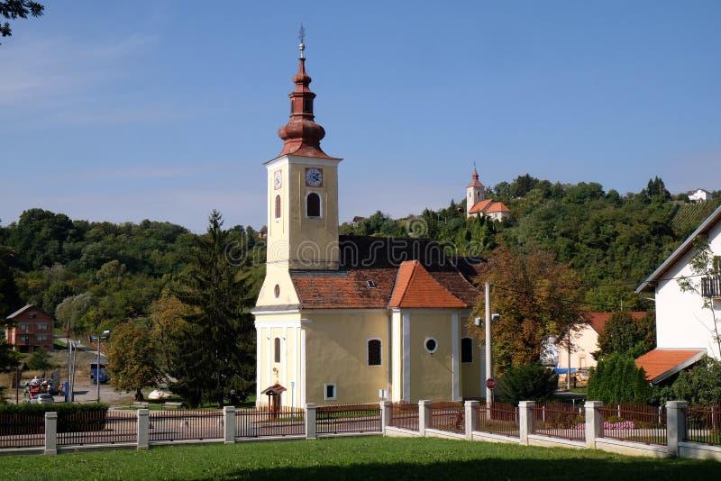 Kerk van Heilige Francis Xavier in Vugrovec, Kroatië stock fotografie