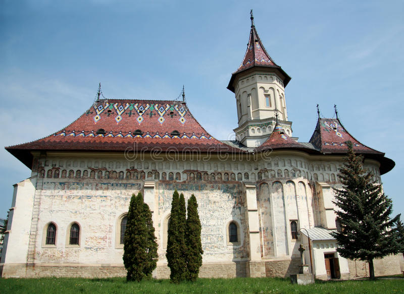 Kerk van Heilige George, Suceava, Roemenië royalty-vrije stock afbeelding