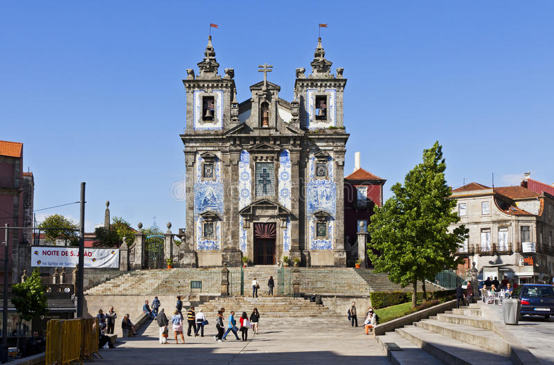 Kerk van Heilige Ildefonso (Igreja DE Santo Ildefonso), Porto royalty-vrije stock afbeelding