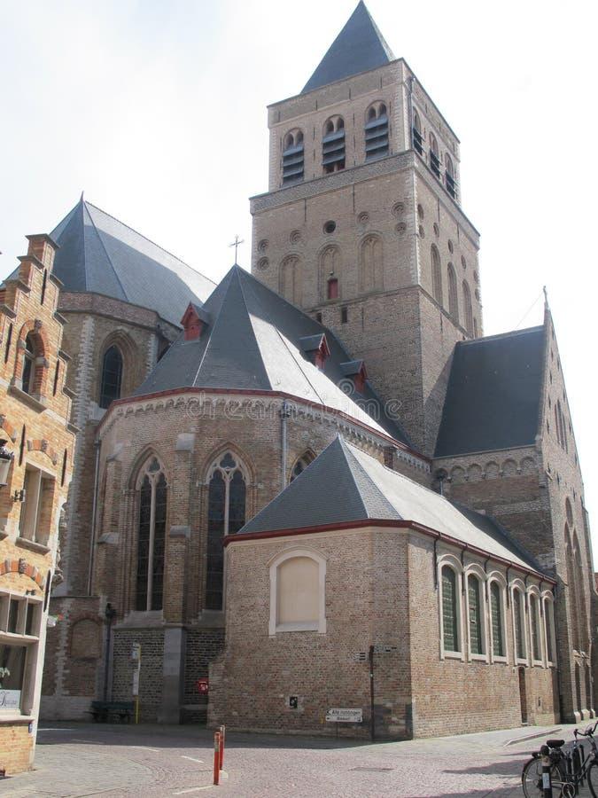 Kerk van Heilige Jacob, Brugges stock afbeeldingen