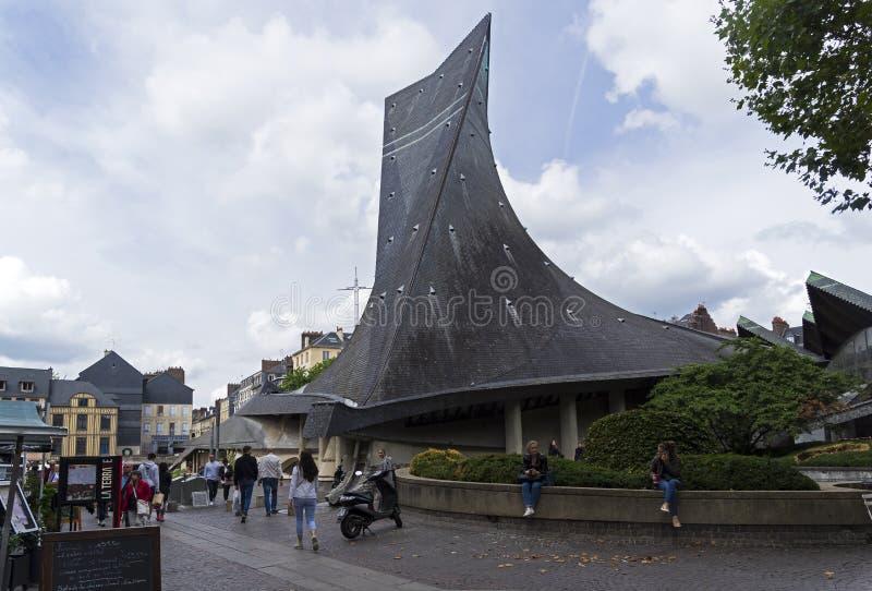 Kerk van Heilige Joan van Boog stock foto
