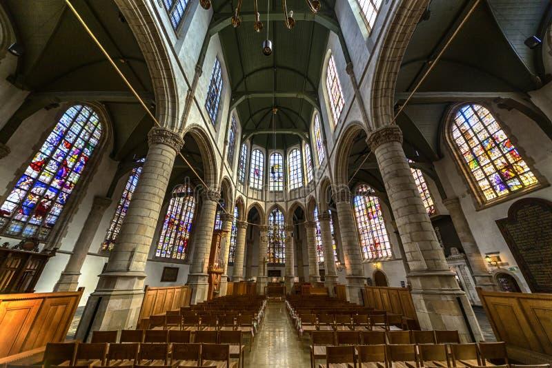 Kerk van Heilige John, Gouda stock afbeeldingen