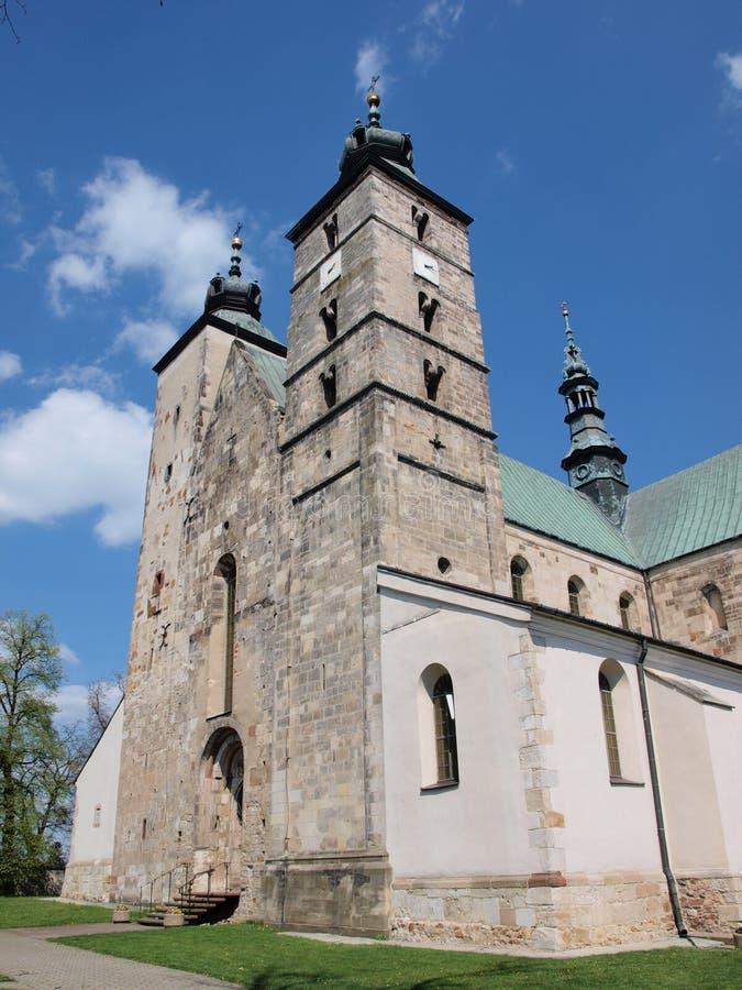 Kerk van Heilige Martin, Opatow, Polen royalty-vrije stock afbeeldingen