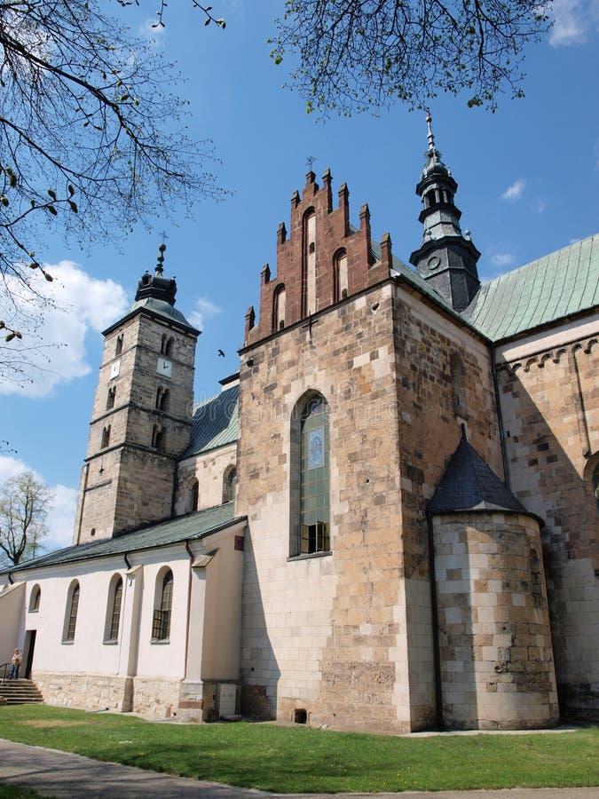 Kerk van Heilige Martin, Opatow, Polen stock afbeeldingen