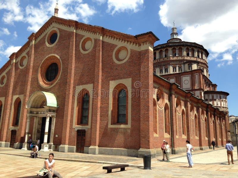 Kerk van Heilige Mary van Gunst, het huis van da Vinci ` s het Laatste Avondmaal stock foto