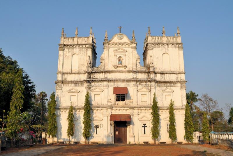 Kerk van Heilige Mathias, Divar-eiland, Oude Goa stock foto's