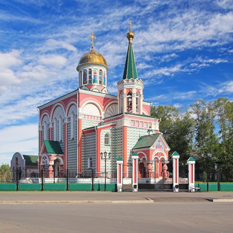 Kerk van Heiligen Konstantin en Elena in Abakan royalty-vrije stock foto