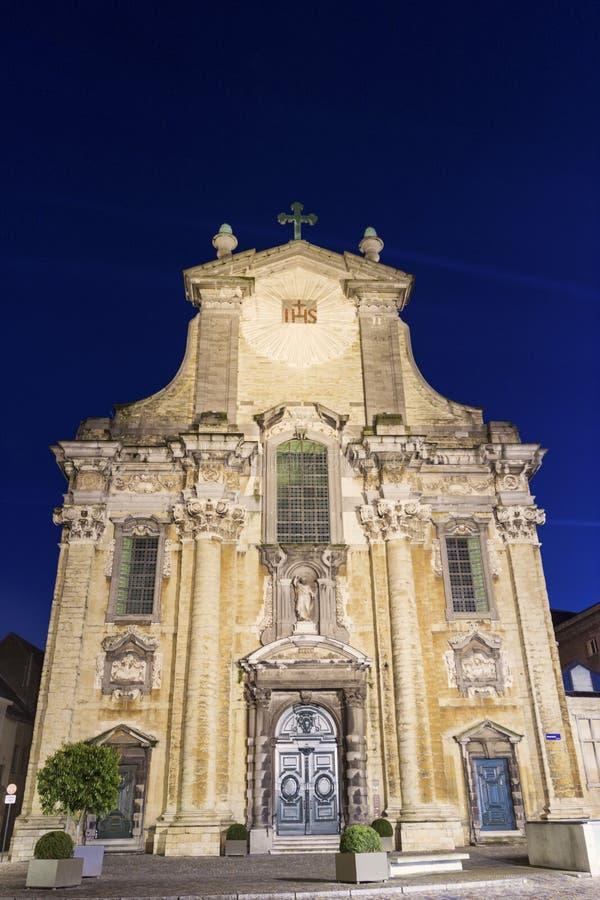 Kerk van Heiligen Peter en Paul in Mechelen in België stock afbeelding