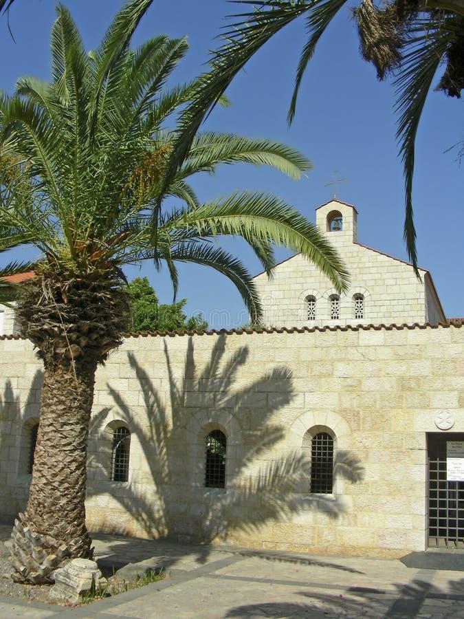 Kerk van Heptapegon stock foto's