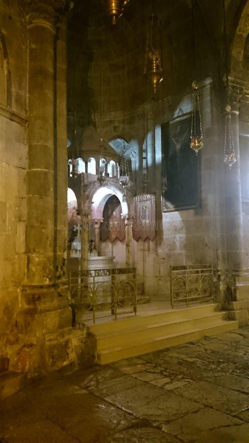 Kerk van het Heilige Grafgewelf in de Oude Stad van Jeruzalem, Israël royalty-vrije stock foto