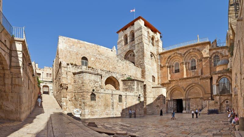 Kerk van het Heilige Grafgewelf in Jeruzalem stock afbeelding