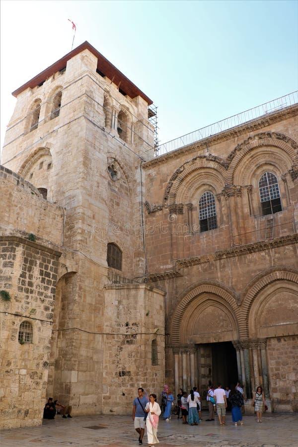 KERK VAN HET HEILIGE GRAFGEWELF JERUZALEM, ISRA?L stock foto's