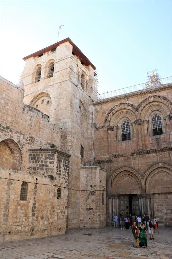 KERK VAN HET HEILIGE GRAFGEWELF JERUZALEM, ISRA?L stock afbeelding