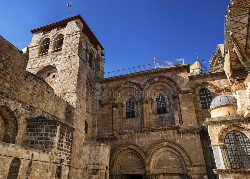 Kerk van het Heilige Grafgewelf, Jeruzalem, Isreal stock foto's