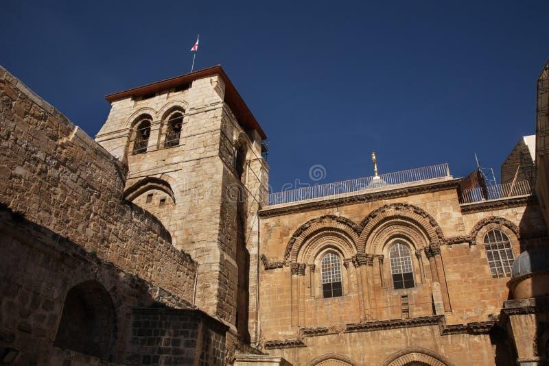 Kerk van het Heilige Grafgewelf (Kerk van de Verrijzenis) in Jeruzalem israël stock fotografie
