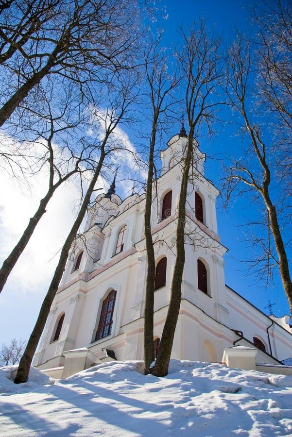 Kerk van het Heilige Kruis in Vilnius royalty-vrije stock foto's