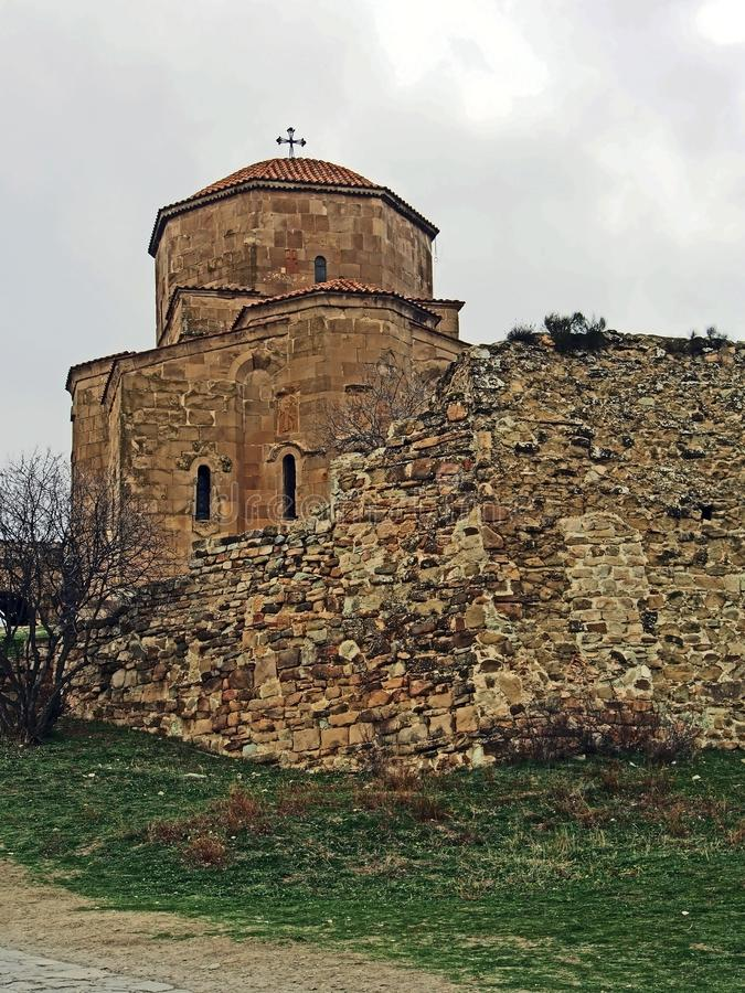 Kerk van het klooster van Mtskheta Jvari in Georgi? stock foto