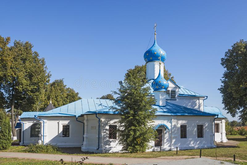 Kerk van Inleiding Moskovskayastraat, pereslavl-Zalessky, Yaroslavl-gebied Russische Federatie stock fotografie