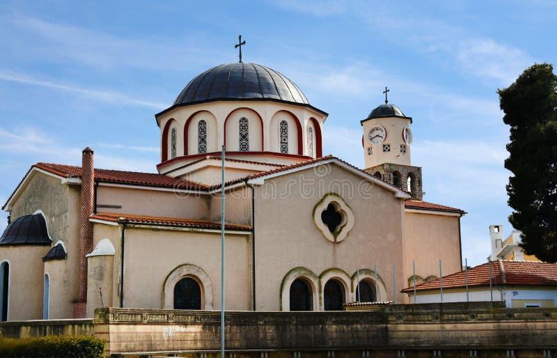 Kerk van Maagdelijke Mary Panagia in Kavala royalty-vrije stock foto
