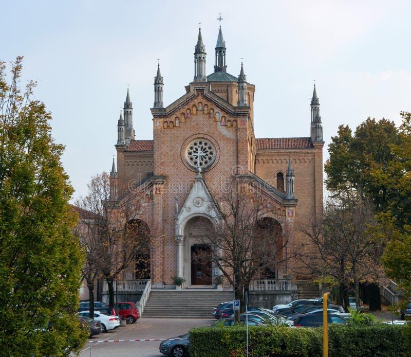 Kerk van Madonna delle Grazie Pordenone Italië stock foto's
