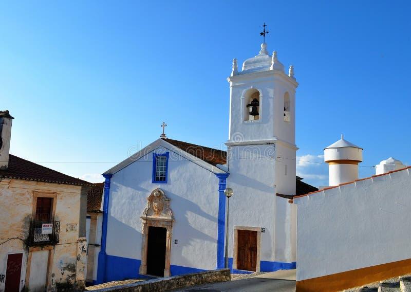 Kerk van Misericordia/de Genade - Alandroal stock fotografie