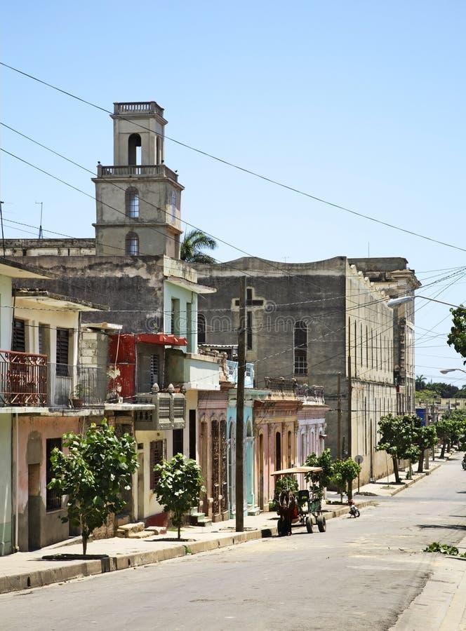 Kerk van Montserrat in Cienfuegos cuba royalty-vrije stock foto's