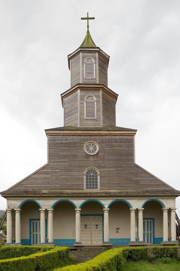 Kerk van Nercon, Chiloe-Eiland, Chili royalty-vrije stock foto's