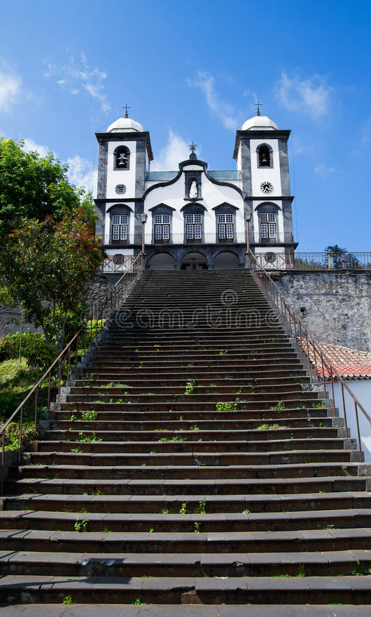 Kerk van Nossa Senhora do Monte, Madera stock fotografie