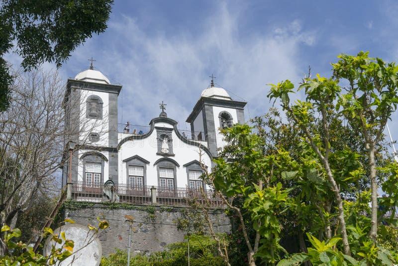 Kerk van Nossa Senhora do Monte, Madera royalty-vrije stock afbeeldingen